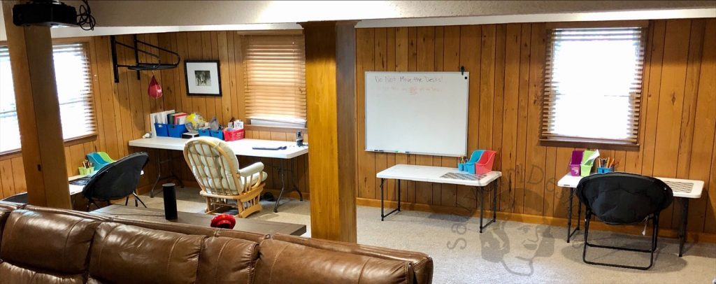 remote learning home setup